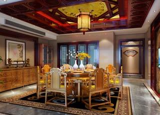 现代中式风格--徐州别墅豪宅中式装修效果图赏析