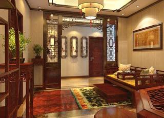 淮安某客户别墅现代中式风格 品尝中式元素韵味