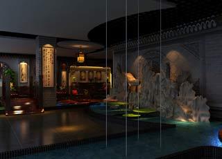 公装设计-红木家具体验馆中式装修风格案例欣赏