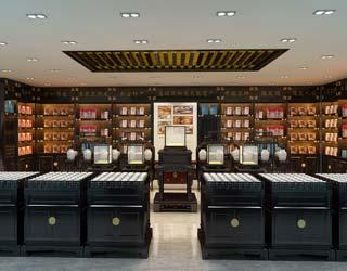 中式工装设计店面展厅案例--荡漾着幽深、恣意