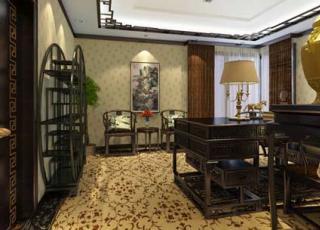 上海某办公室中式风格设计案例赏析