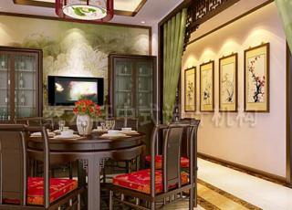 杭州冯总别墅中式装修设计 传递浓浓的古典意味