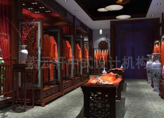 中式公装旗袍店面设计 在古朴典雅中留下历史的符号
