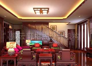 别墅古典中式风格装修中的古风禅意_记海口董氏别墅设计赏析