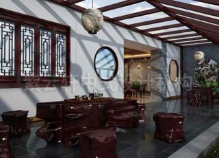 中式公装办公室装修设计——古朴简约中的时尚风情