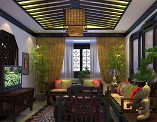 宁波古典风情 别墅中式设计装修