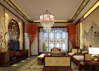 被中式艺术氛围所静化—古典简约中式平层设计