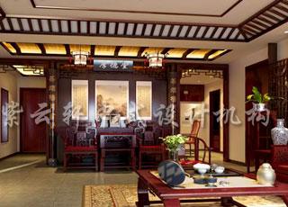 新年之际在中式古典别墅中享受一家人的天伦之乐