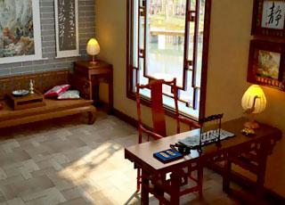 新中式别墅装修设计-丽江花园棕榈滩别墅