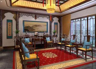 别墅设计现代中式装修  庄重典雅