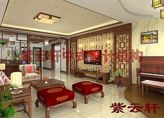 新古典简约中式设计风格深圳王宅室内设计
