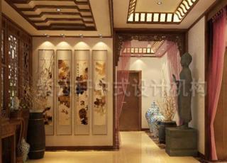 宜兴现代简约中式别墅设计装修 让典雅与时尚并居