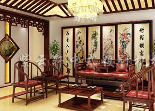 别墅古典中式装修案例-江苏某别墅的韵味呈现
