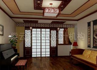 古朴简约的别墅中式装修案例-广州孙宅别墅中式设计