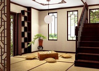紫庐别墅中式装修设计-古典的传神意蕴