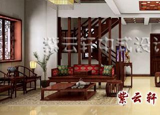 """别墅中式装修古典风格之台州沈女士""""书写人生""""设计"""