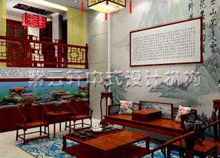 别墅新古典中式设计-满室书香与雅气的慈溪别墅装修案例