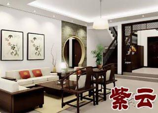 现代中式设计天津某别墅作品