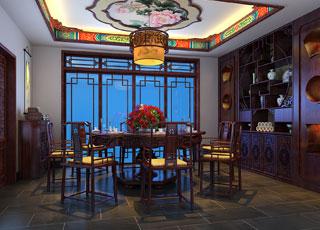 古典简约中式风格别墅设计--气质庄严
