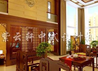 古朴温馨中式装饰的复式中式设计案例-家和万事兴