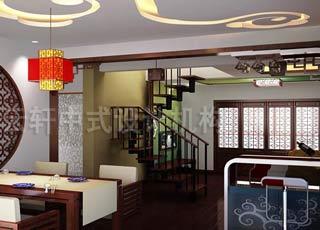 复式中式装修设计-高雅与尊贵的上海张宅案例