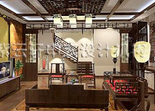 新四合院别墅中式古典装修设计案例北京紫庐四合院别墅