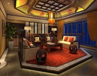 公装设计对于会所中式装修的华美修饰