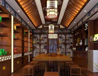 茶楼中式设计装修 给心灵一个宁静之处