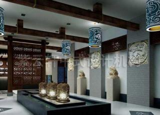 茶档中式装修设计-无锡茶楼的沉静与雅致