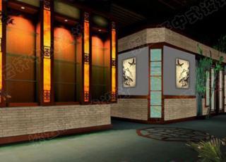 茶楼中式装修设计-曲径通幽闻茶香
