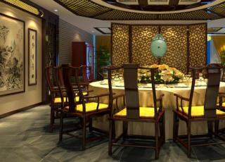 西宁某中式餐厅案例--高山流水的韵律之美