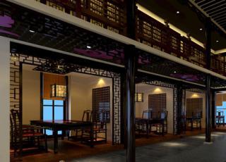中式餐饮会馆设计装修 庄重豪华尽显中国风