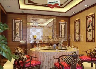 上海某客户简约别墅中式装修 古典清新显富贵