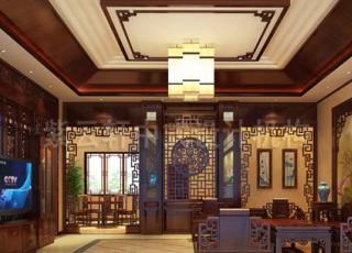 古典小清新格调的简约别墅中式设计装修
