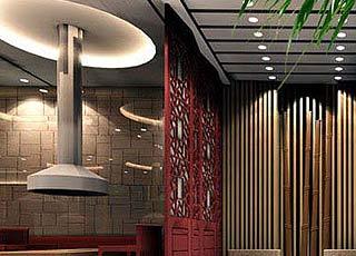 饭店中式设计海淀区某烧烤城案例