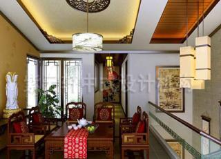 典雅的简约中式装修设计-某居家别墅装修设计赏析