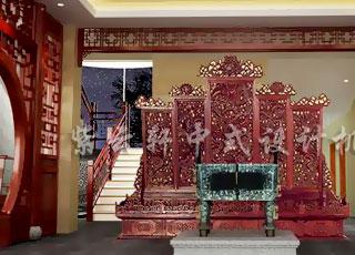 高贵大气之合院会所中式设计 广州某私人会所中式装修