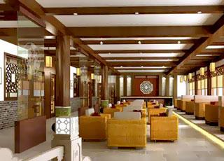 上海某酒店大堂休息区
