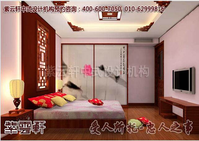 别墅卧室选择中式装修中颜色的搭配与布局
