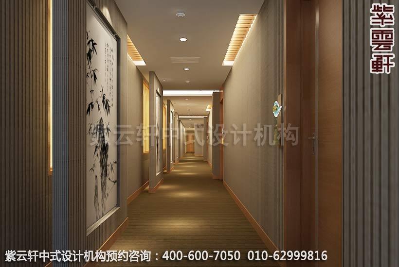 酒店过道中式装修效果图