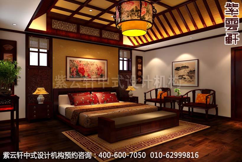 休闲会所卧室古典中式装修效果图