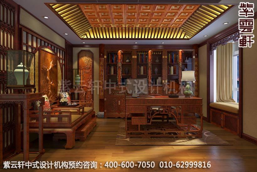 别墅书房古典中式装修效果图
