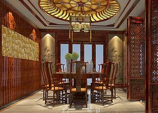 章总豪华别墅古典中式装修案例