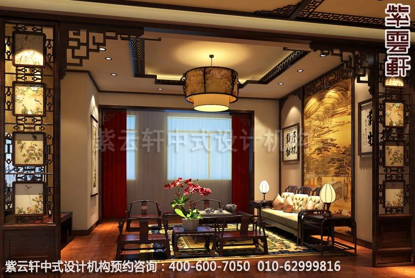 复式二层客厅简约中式装修效果图
