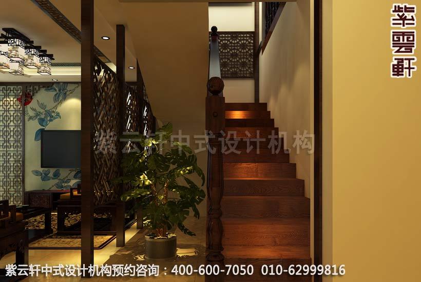 复式楼梯间简约中式装修效果图