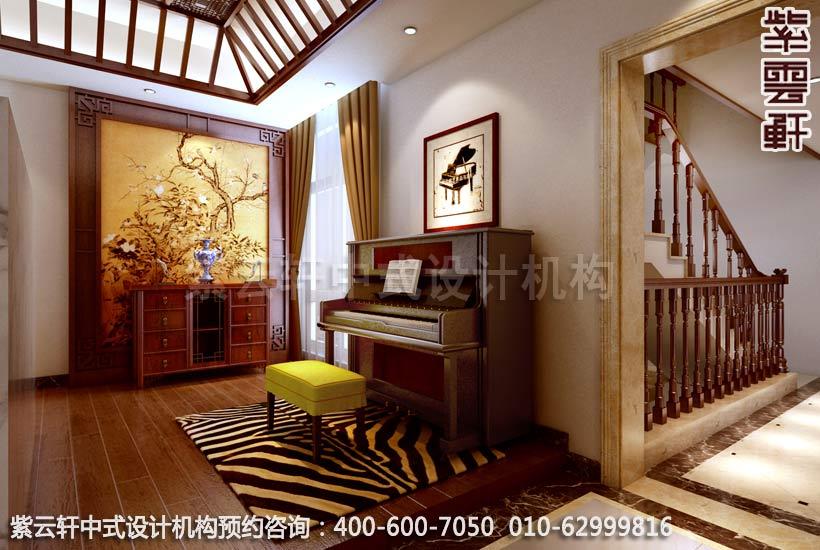 别墅客厅现代中式装修效果图