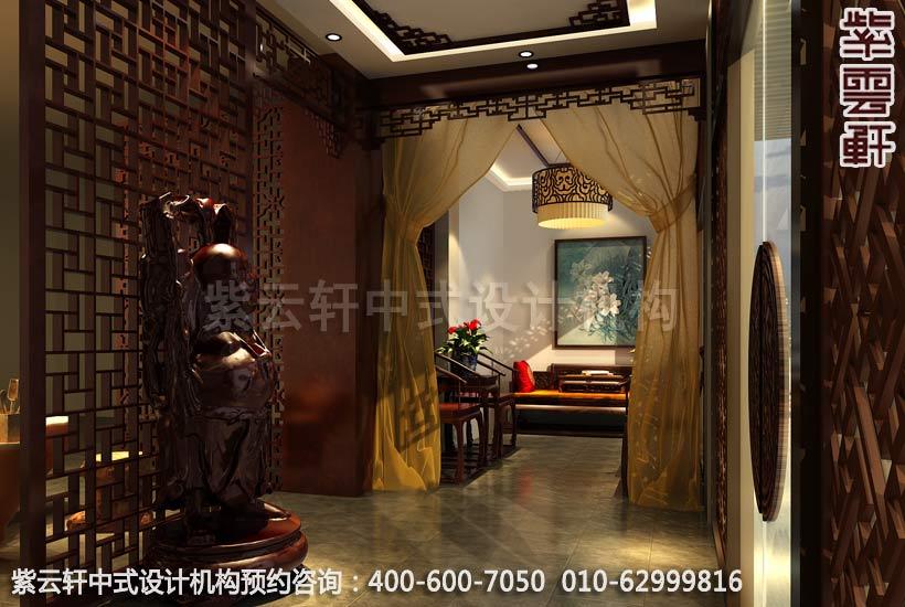 办公室门厅古典中式装修效果图