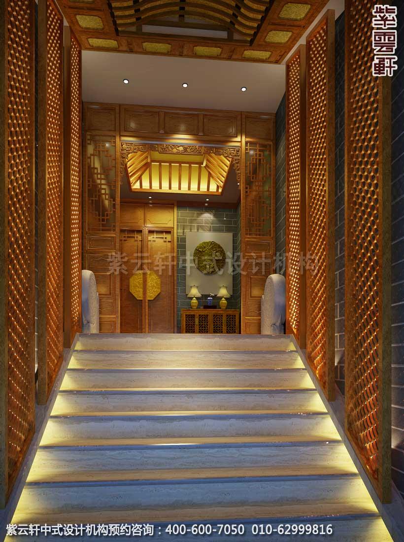 私人会所门厅古典中式装修效果图