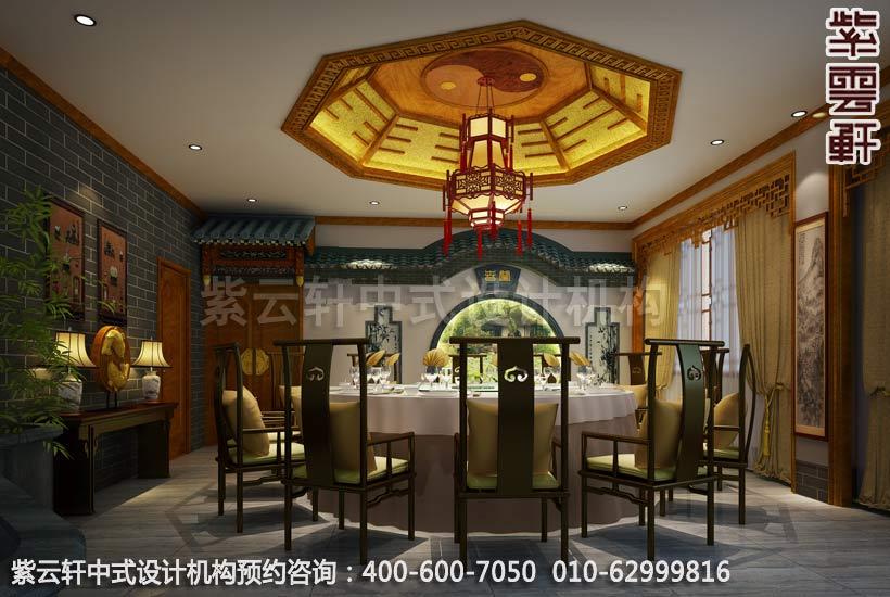 私人会所大餐厅古典中式装修效果图