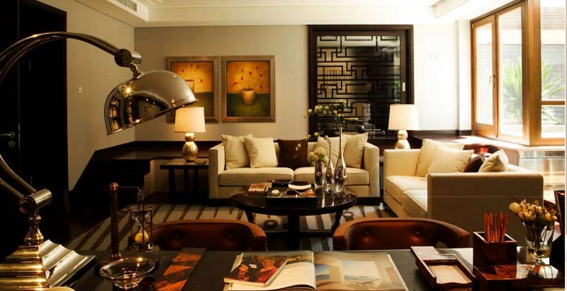 别墅客厅中式装修在色彩运用上的搭配技巧